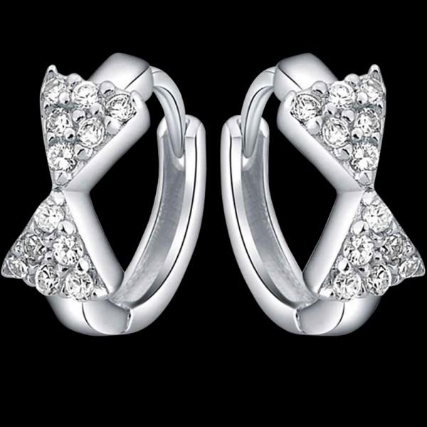Bow Hoop Earrings