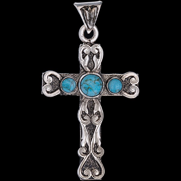 Three Turquoise Cross