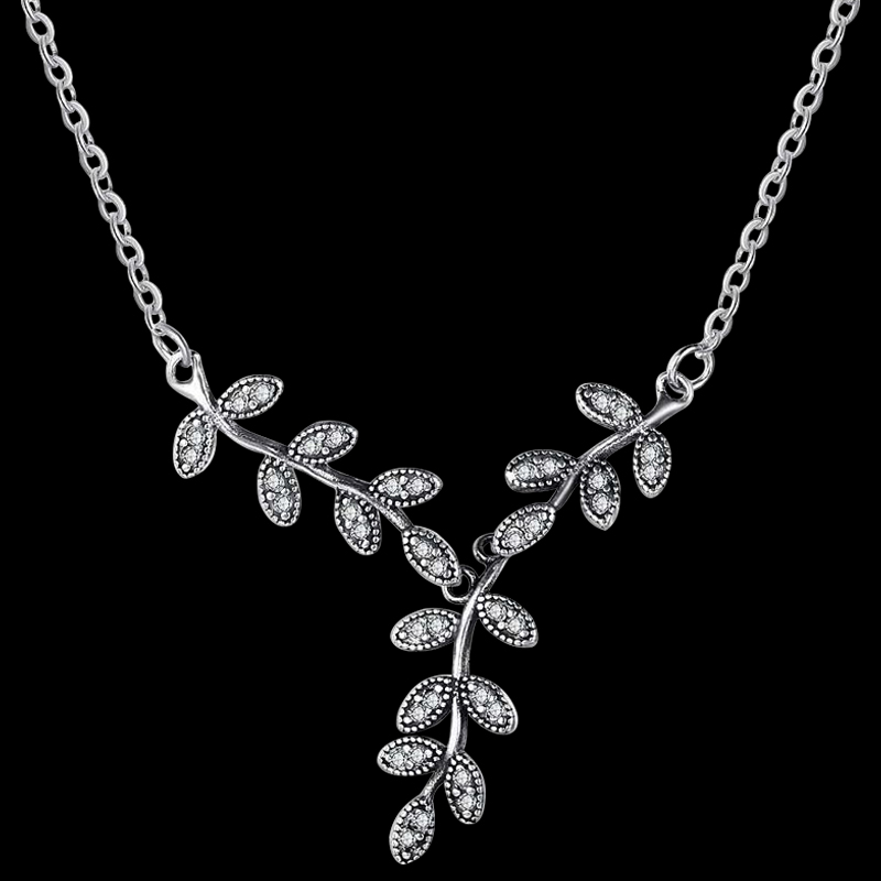 necklaces crystal necklace statement silver vine