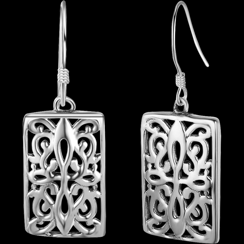 Filigree Block Earrings