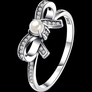 Pearly Bow Ring