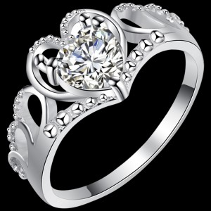 Tiara Heart Ring