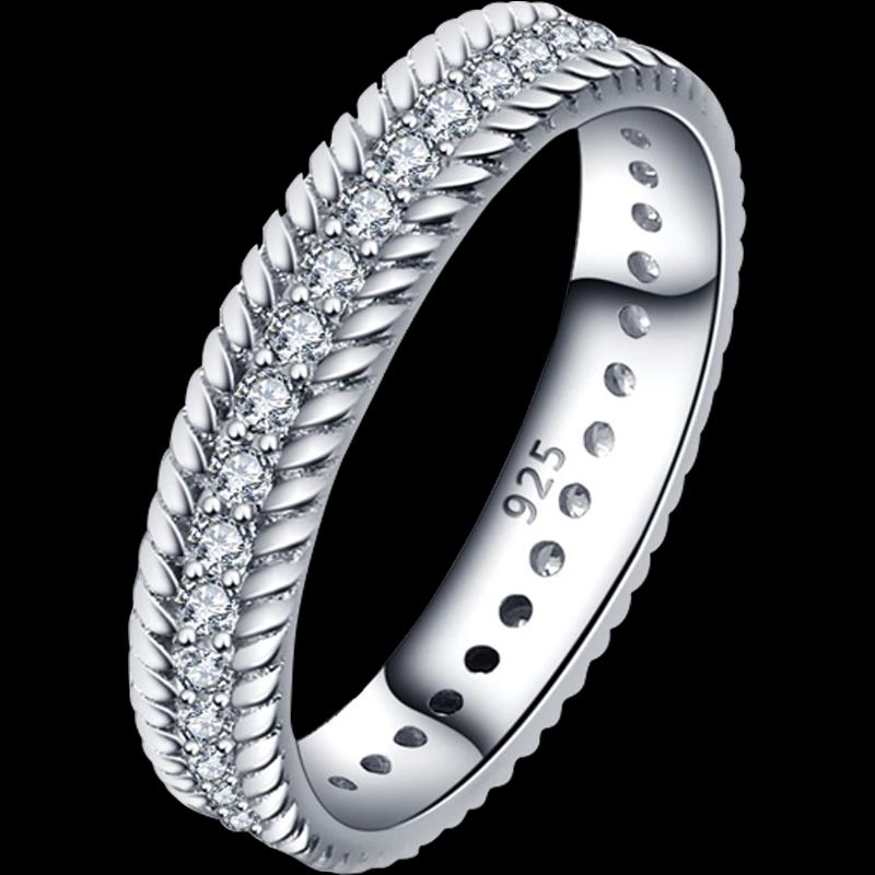 Dainty Rope n' Crystal Ring